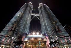 Petronas twin tower. At night Royalty Free Stock Photo