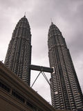 Petronas Twin Tower. Malaysia in gray color Stock Images