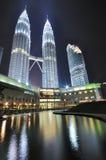 Petronas Twin Tower. Night shot of Petronas Twin Tower, Kuala Lumpur Malaysia Royalty Free Stock Photo