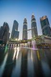 Petronas Twin Tower. Blue hour at Petronas Twin Towers, Malaysia Royalty Free Stock Photo