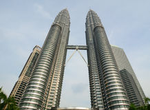 Petronas Twin Tower in KL, Malaysia Stock Images