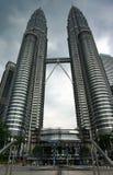 Petronas-Twin Tower in Kuala Lumpur Stockfotos