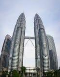 Petronas Twin Tower in Kuala Lumpur, Malaysia.  Stock Photo