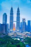 Petronas-Twin Tower, Kuala Lumpur Urban Scene Lizenzfreie Stockfotografie