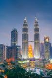 Petronas-Twin Tower, Kuala Lumpur Urban Scene Stockfotografie