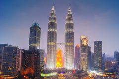 Petronas-Twin Tower, Kuala Lumpur Urban Scene Stockbilder