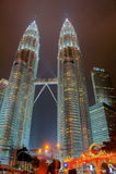 Petronas-Twin Tower, Kuala Lumpur Urban Scene Stockbild