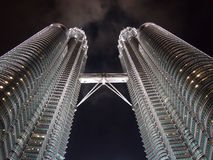 Petronas Twin Tower at night Stock Image