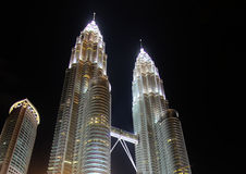 Petronas Twin Tower at night Stock Photography