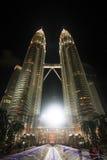 Petronas Twin Tower at night Stock Photography