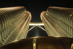 Petronas Twin Tower at night Royalty Free Stock Photography