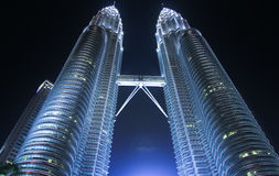 Petronas Twin Tower at night Royalty Free Stock Images