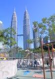 Petronas twin tower city view Kuala Lumpur  Royalty Free Stock Images
