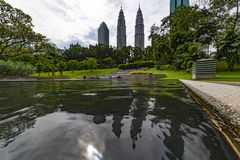 petronas twin towers obrazy royalty free