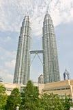 Petronas Twin Towers. Petronas Towers, Symbol of Kuala Lumpur stock photography