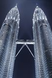 Petronas Twin Towers. Scenic night view of the Petronas Twin Towers in Kuala Lumpur, Malaysia Stock Photography