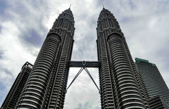 Petronas twin towers. Building in malaysia Stock Images