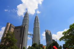 The Petronas Twin Towers buildings Royalty Free Stock Images