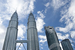 Petronas Twin Towers daylight Royalty Free Stock Photo