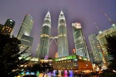 Petronas Twin Towers at dusk. Kuala Lumpur. Malaysia Stock Photos