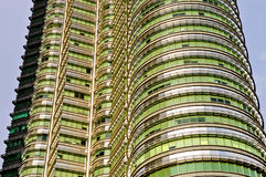 Petronas Twin Towers Exterior Design. These buildings is the most popular tourist attraction in Kuala Lumpur Royalty Free Stock Image