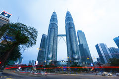Petronas Twin Towers exterior design Stock Photo