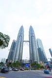 Petronas Twin Towers exterior design Royalty Free Stock Image