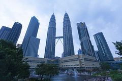 Petronas Twin Towers exterior design Royalty Free Stock Photography