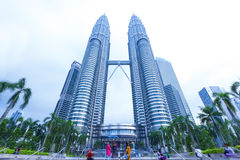 Petronas Twin Towers exterior design Royalty Free Stock Images
