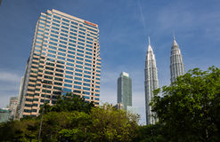 Petronas Twin towers and Exxonmobil tower Stock Image