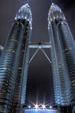 The Petronas Twin Towers. HDR with long exposure and bracketing Royalty Free Stock Photo