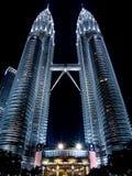 Petronas twin towers in Kuala Lampur,Malaysia #1. Petronas twin towers in Kuala Lampur,Malaysia by night Royalty Free Stock Photos