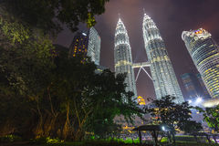 Petronas Twin Towers, kuala lumper Stock Photos