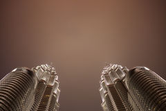 Petronas twin towers Kuala Lumpur Royalty Free Stock Images