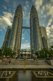 Petronas twin towers stock images