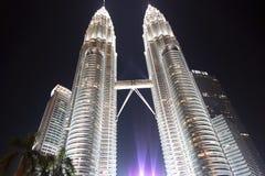 Petronas Twin Towers in Kuala Lumpur. Royalty Free Stock Images