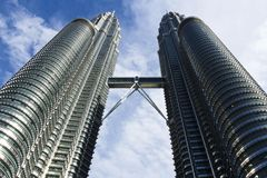 The Petronas Twin Towers Kuala Lumpur, Malaysia Royalty Free Stock Images