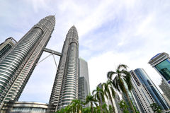 Petronas Twin Towers in Kuala Lumpur Royalty Free Stock Photos