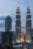 Petronas Twin Towers in Kuala Lumpur Royalty Free Stock Images