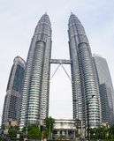 The Petronas Twin Towers in Kuala Lumpur, Malaysia Stock Images