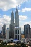 Petronas Twin Towers at Kuala Lumpur, Malaysia. Stock Photo