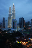Petronas Twin Towers at Kuala Lumpur, Malaysia. Royalty Free Stock Photos