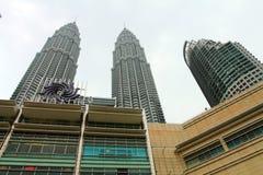 Petronas Twin Towers at Kuala Lumpur, Malaysia. Stock Image