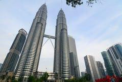 Petronas Twin Towers in Kuala Lumpur Stock Images