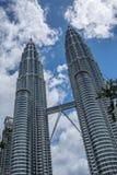 Petronas Twin Towers in Kuala Lumpur, Malaysia Royalty Free Stock Photography
