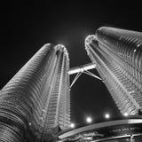 Petronas Twin Towers, Kuala Lumpur, Malaysia at night Royalty Free Stock Image