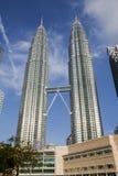 Petronas Twin Towers, Kuala Lumpur. KUALA LUMPUR, MALAYSIA - NOVEMBER 26: Morning view of Petronas Twin Towers on November 26, 2011 in Kuala Lumpur, Malaysia Royalty Free Stock Image