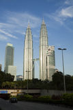 Petronas Twin Towers, Kuala Lumpur. KUALA LUMPUR, MALAYSIA - NOVEMBER 26: Morning view of Petronas Twin Towers on November 26, 2011 in Kuala Lumpur, Malaysia Royalty Free Stock Photo