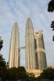 Petronas Twin Towers, Kuala Lumpur. KUALA LUMPUR, MALAYSIA - NOVEMBER 19: Morning view of Petronas Twin Towers on November 19, 2011 in Kuala Lumpur, Malaysia Stock Photos