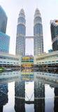 Petronas Twin Towers  , Kuala Lumpur Stock Image